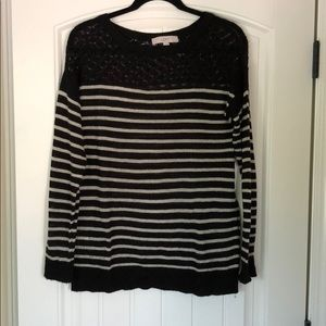 Black and white stripped Loft sweater